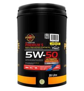 Penrite PREMIUM 5W-50 (100% PAO ESTER) motosport