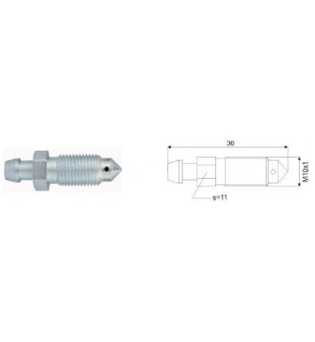 Odpowietrznik hamulca M10x1 36 mm - 1 szt.