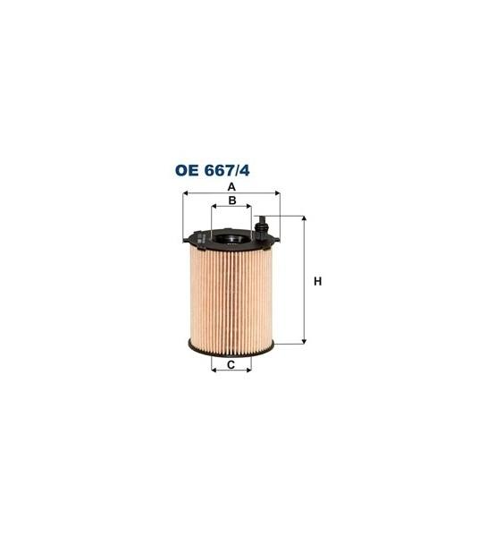 OE 667/4 Filtron filtr oleju