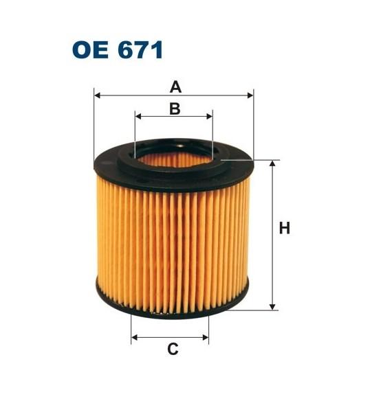 Filtr oleju OE 671