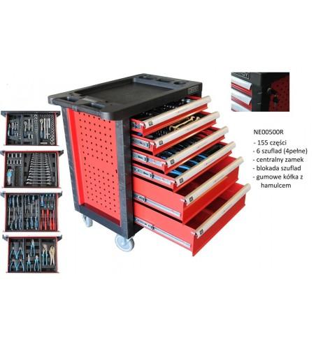 Profesjonalny wózek narzędziowy na kółkach 155 elementów
