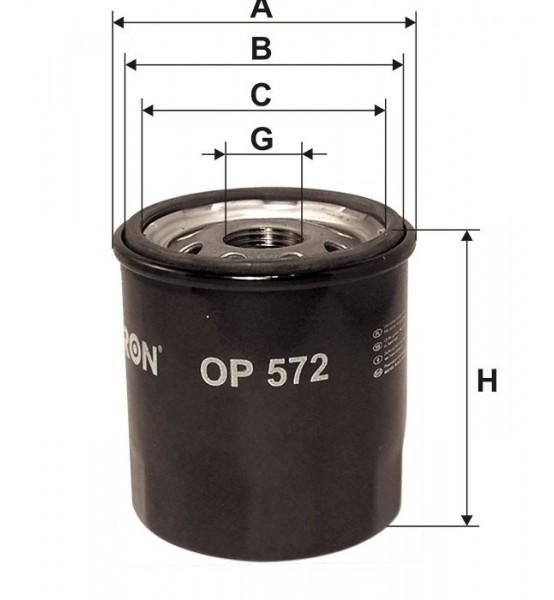 Filtr oleju OP 572 Filtron
