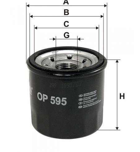 Filtr oleju OP 595 Filtron