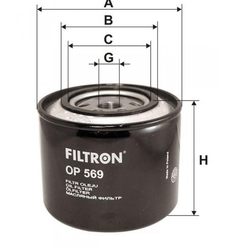 Filtr oleju OP 569 Filtron