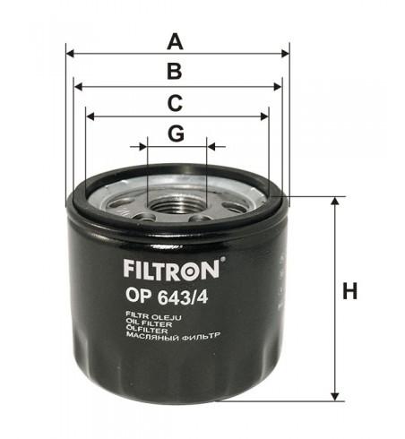 Filtr oleju OP 643/4 Filtron