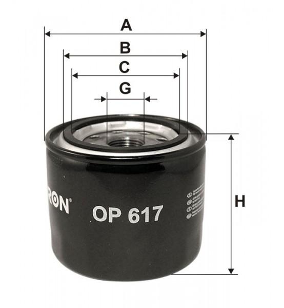 Filtr oleju OP 617 Filtron