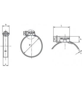 """Opaska, obejma zaciskowa ślimakowa Mikalor ASFA """"L"""" od 8 mm do 100 mm"""
