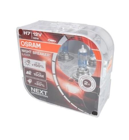 H7 55W 12V Night Breaker Laser Next Generation 150% DUO