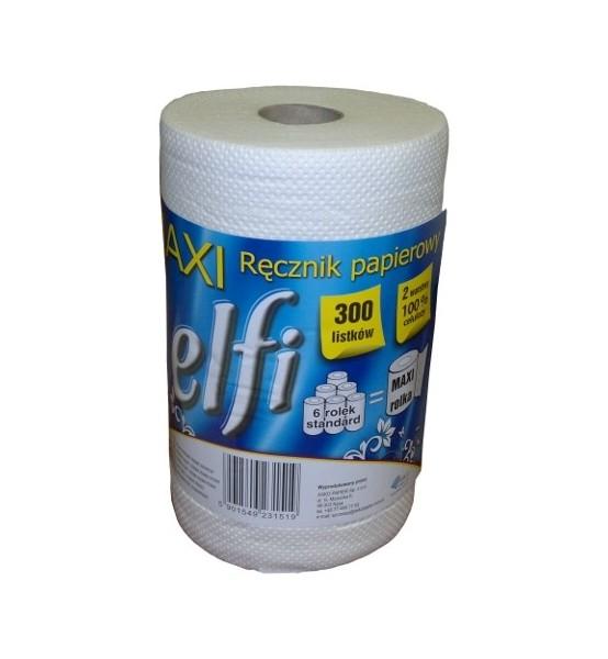 Ręcznik celulozowy biały Elfi 300 listków