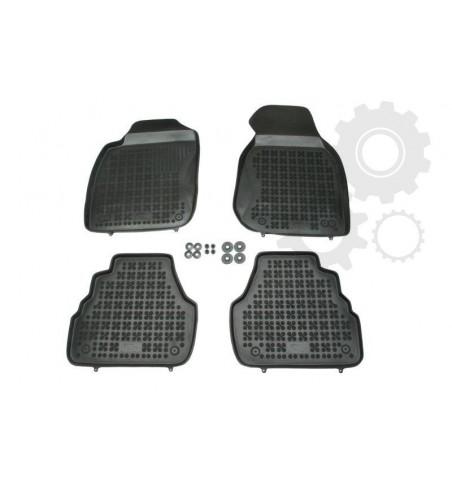 Dywaniki podłogowe gumowe 4 szt. czarne AUDI A6 01.97-01.05