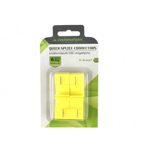 Szybkozłączki elektryczne, żółte, 4-6mm^2
