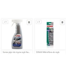 Sonax płyn do mycia szyb nano i mikrofibra