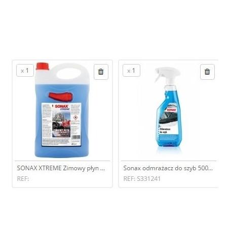 Zestaw zimowy Sonax płyn 4L i odmrażacz do szyb