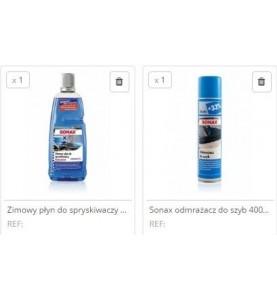 Zestaw zimowy Sonax 1L i odmrażacz do szyb 400 ml