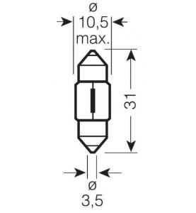 SV8.5-8 31 mm OSRAM Orignal - 1 szt.