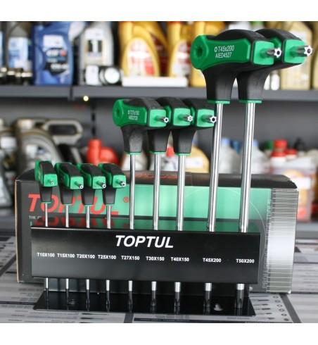 Zestaw kluczy Torx Toptul 9 szt.