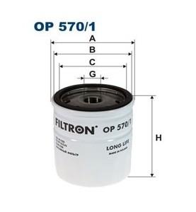 Filtr oleju OP 570/1 Filtron