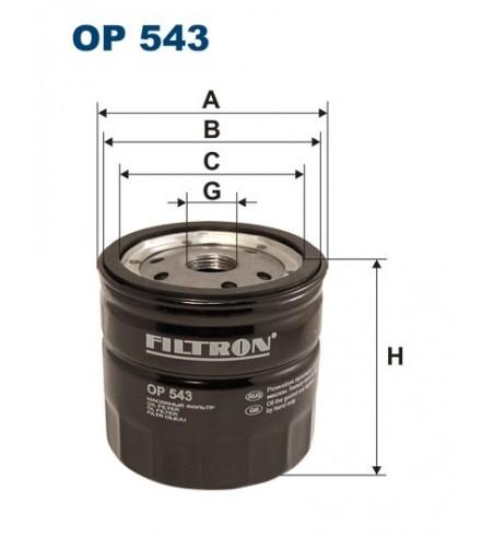 Filtr oleju OP 543 Filtron