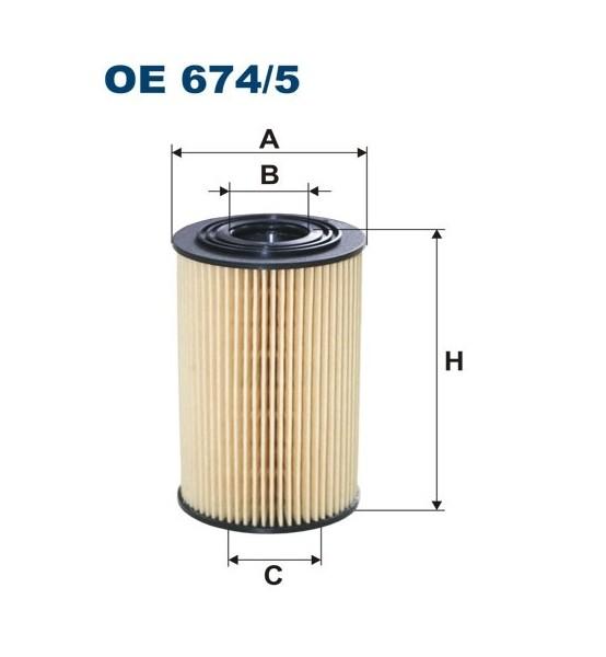 Filtr oleju OE 674/5 Filtron