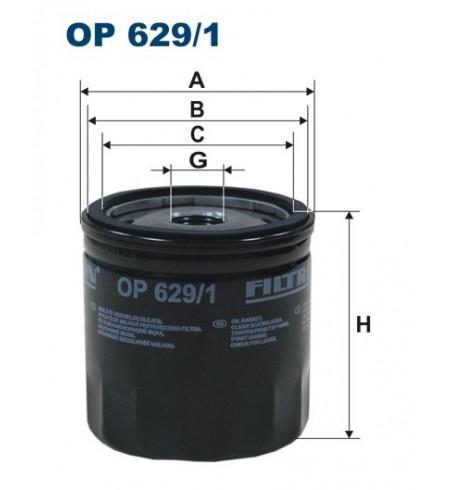 Filtr oleju OP 629/1 Filtron
